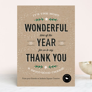 Most Wonderful Time Business Holiday Cards