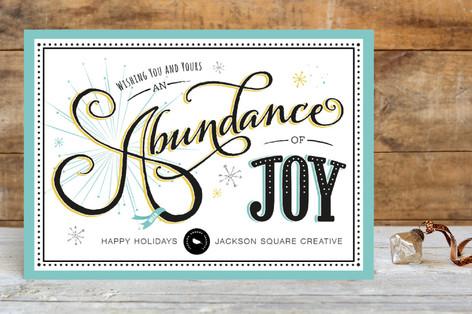 Abundant Joy Business Holiday Cards