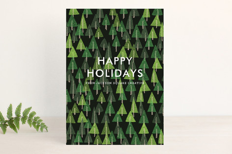 Holiday Trees Business Holiday Cards