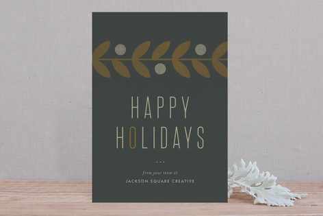 Motif Happy Holidays Business Holiday Cards