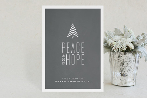 Hopeful Stripe Business Holiday Cards