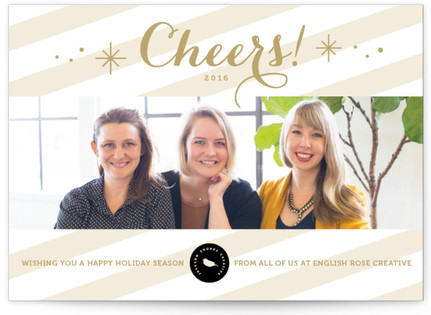 Cheers Panoramic Business Holiday Cards