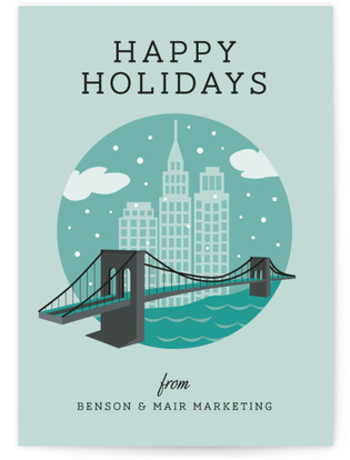 Snowy NYC Business Holiday Cards