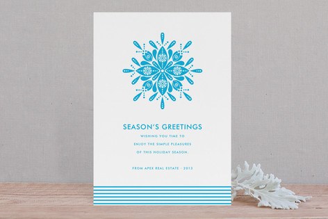 Nordic Snowflake Business Holiday Cards