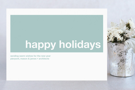 Modern Joy Business Holiday Cards