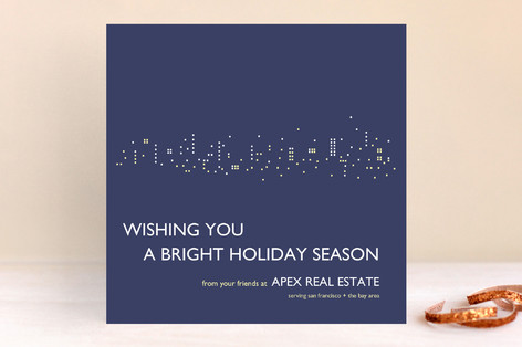 Night Lights Business Holiday Cards