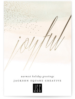 Water Dipped Business Holiday Cards