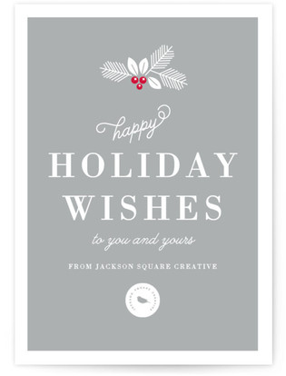 Happy Holiday Wishes Business Holiday Cards