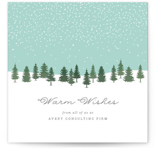 Snow Globe Business Holiday Cards