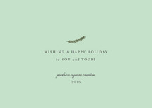 Minimalist Greetings Business Holiday Cards