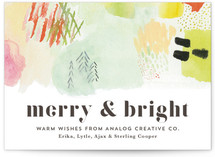 Abstract Merry Bright Fir Trees
