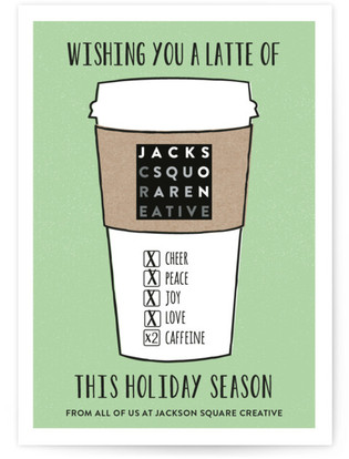 Latte Wishes Business Holiday Cards