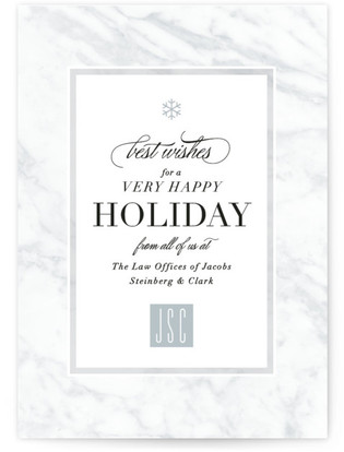Marble Border Business Holiday Cards