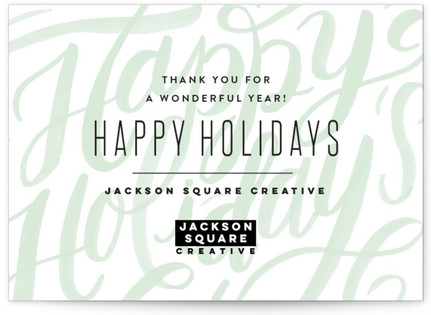 Modern Lettering Business Holiday Cards