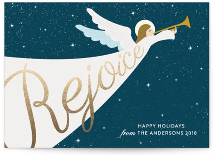 Angel Foil-Pressed Holiday Cards