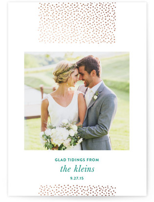 Delicate Dots Holiday Foil-Pressed Holiday Cards