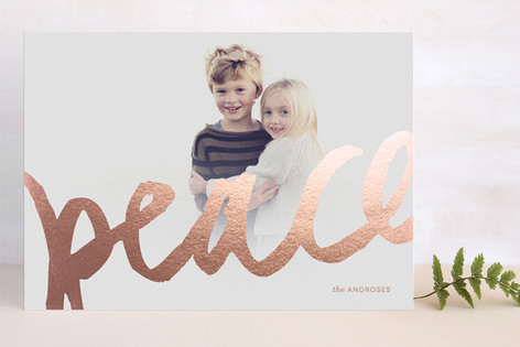 Brushed Gold Foil-Pressed Holiday Cards