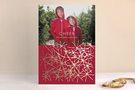 Cheerflake Foil-Pressed Holiday Cards