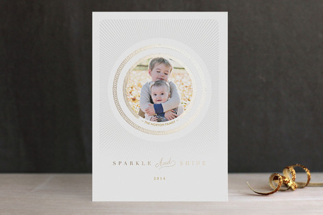 Radiant Shine Foil-Pressed Holiday Cards