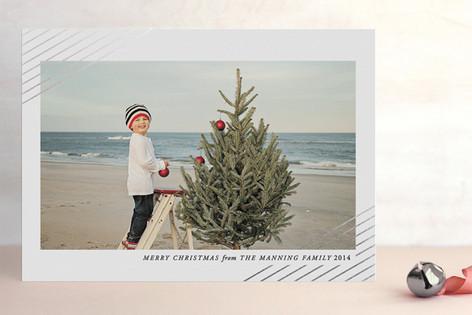 Modern Shimmer Foil-Pressed Holiday Cards