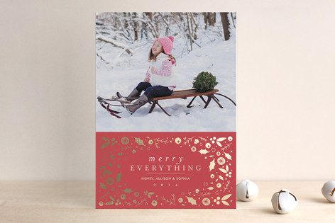Winter Waltz Foil-Pressed Holiday Cards
