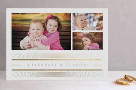 Celebrate the Season Foil-Pressed Holiday Cards