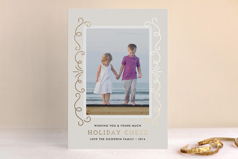 Elegant Holiday Cheer Foil-Pressed Holiday Cards