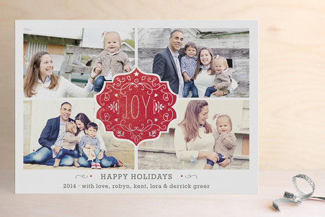 Festive Joy Foil-Pressed Holiday Cards