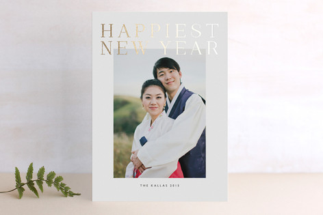 Grand Foil-Pressed Holiday Cards