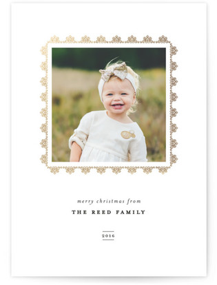 Avenue Foil-Pressed Holiday Cards