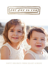 Joy Joy to You Foil-Pressed Holiday Cards