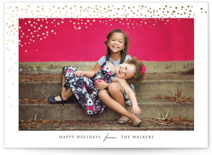 Lots of Dots Foil-Pressed Holiday Cards