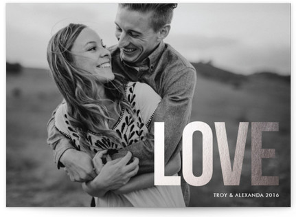 Love is Good Foil-Pressed Holiday Cards