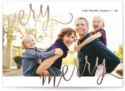 Merry Moment Foil-Pressed Holiday Cards
