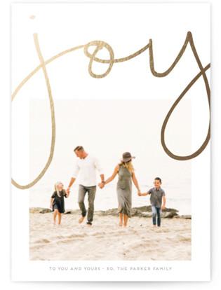 More Joy Foil-Pressed Holiday Cards