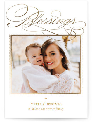 Scripted Blessings Foil-Pressed Holiday Cards