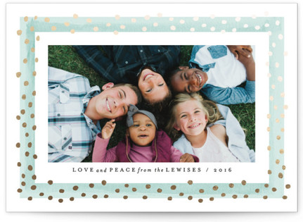Dotted Frame Foil-Pressed Holiday Cards