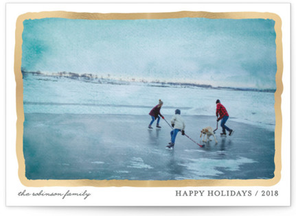 Aquarelle Foil-Pressed Holiday Cards