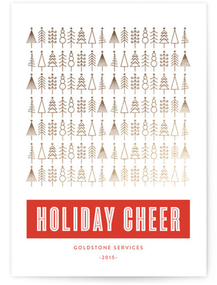 Golden Christmas Foil-Pressed Holiday Cards