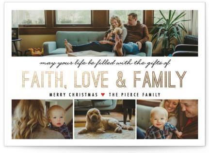 A Family Affair Foil-Pressed Holiday Cards