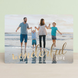 It really is a wonderful life Foil-Pressed Holiday Cards