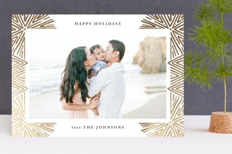 Abstract Fireworks Foil-Pressed Holiday Cards