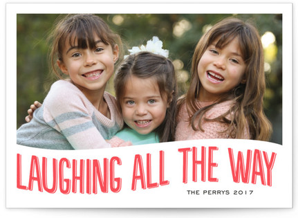 Hahaha Letterpress Holiday Photo Cards