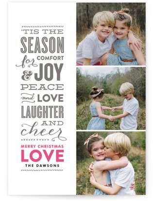 The Festive Type Letterpress Holiday Photo Cards