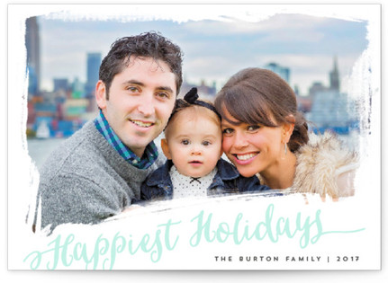 beautifully painted Letterpress Holiday Photo Cards