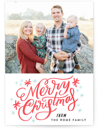 Merry Sparkles Letterpress Holiday Photo Cards