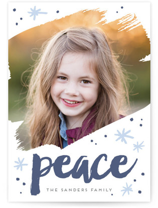 Peace Letterpress Holiday Photo Cards