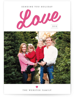 Lots of Holiday Love Letterpress Holiday Photo Cards