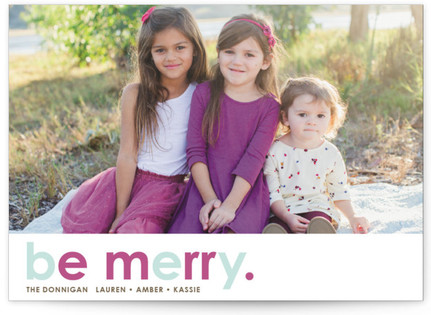 Cherry Merry Letterpress Holiday Photo Cards