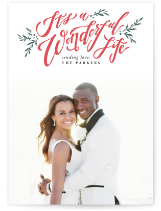 A Beautiful and Wonderful Life Letterpress Holiday Photo Cards